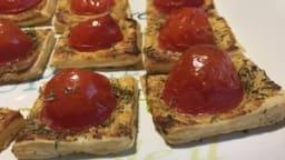Feuilletés de tomates cerise