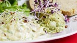 Fougères en mayonnaise au pesto d'orties
