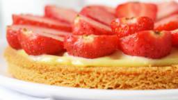 Tarte aux fraises, sur sablé breton
