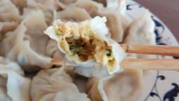 Jiaozi aux courgettes confites