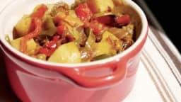 Poivrons confitset pommes de terre