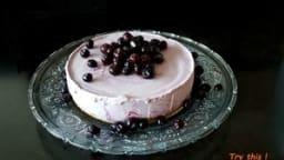 Cheesecake glacé aux myrtilles