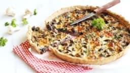 Quiche aux champignons, jambon et persil