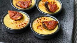 Crème brûlée au foie gras et aux figues