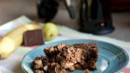 Crumble bananes-poires-chocolat