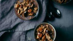 Crème au chocolat, spéculoos & amandes caramélisées