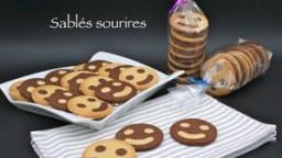 Sablés sourires vanille et chocolat