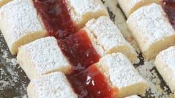 Biscuits croquets / croquants à la confiture