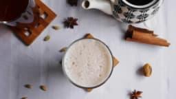 Chaï latte lait de noisette et crème de coco vanillée