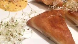 samoussa au poulet épicé et au poivron