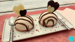 Dôme cheesecake de la Saint Valentin