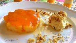 Ananas rôti aux jus de mandarine, orange et papaye aromatisé à la fève tonka, biscuit au noix du Brésil et sa chantilly lait de coco-citron