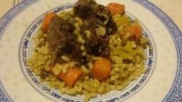 Joue de bœuf aux carottes, poireaux et pâtes au multicuiseur