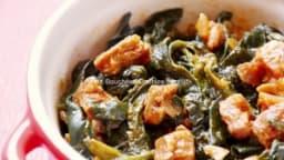 Épinards aux épices et chorizo bio