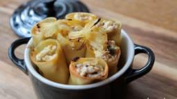Cannellonis farcis aux 3 fromages et aux agrumes