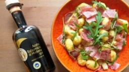 Gnocchis poire, gorgonzola, coppa et balsamique