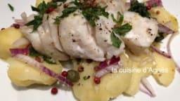 Cabillaud salade de pommes de terre aux câpres