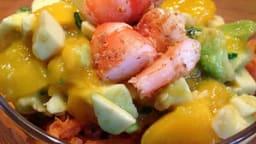 Salade Thaï aux crevettes et mangue