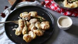 Gnocchis maison au parmesan, noisettes et asperges