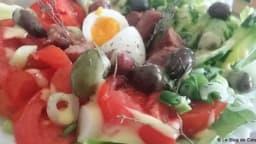 Salade composée de vacances