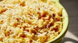 Purée de patates douces et pommes de terre à l'ail