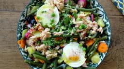 Salade aux petits pois et tutti quanti