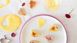 Toasts coeur de foie gras et mangue