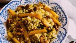 Kalam polo shirazi : riz iranien au chou rave et aux herbes