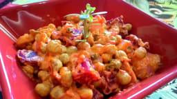 Salade fumée de pomme de terre, betterave et haricot frais