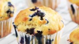 Muffins américains au yaourt et bleuets