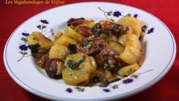 Pommes de terre aux blettes et au chorizo