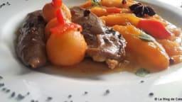 Aiguillettes de canard et poêlée de melon aux épices