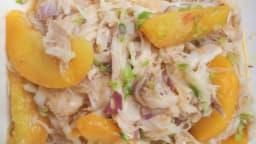 Salade de raie aux pêches et au safran