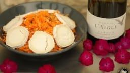 Salade pomme carottes amandes au chèvre