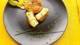 Muffins aux courgettes et à la ciboulette