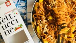 Fettuccine au thon, courgettes et tomates version Jamie Oliver
