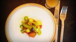 Tomates de Huy, fond de volaille