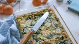 Clafoutis saumon et courgettes