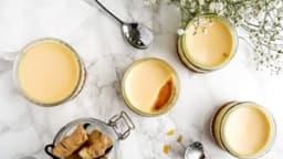 Crème caramel au gingembre