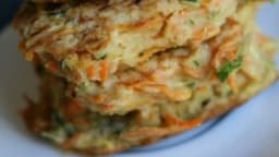 Galettes courgettes -carottes