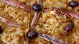 Une pissaladière avec pissala