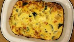 Flan d'oignons et courgettes au parmesan