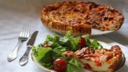 Quiche sans pâte aux poivrons, bœuf séché et St Môret
