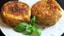 Galettes butternut, pommes de terre, curry