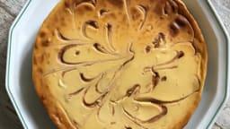 Cheesecake aux pommes, poires et caramel beurre salé