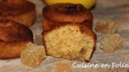 Cakes moelleux noisette et gingembre confit