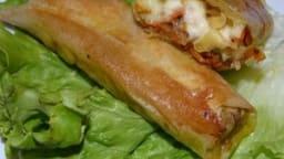 Nems de carottes au munster et salade croquante
