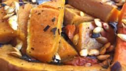 Courge butternut rôtie et épicée