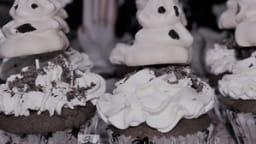 Cupcakes d'Halloween et petits fantômes