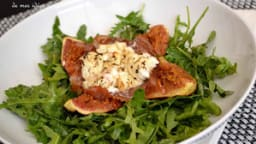 Figues rôties à la pancetta, feta et miel